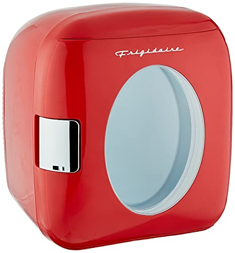 FRIGIDAIRE EFMIS462-RED 12 Can Retro Mini Portable Personal Fridge/Cooler for Home, Office or Dorm, Red