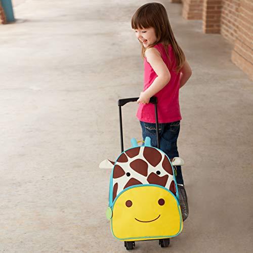 Skip Hop Kids Luggage with Wheels, Giraffe