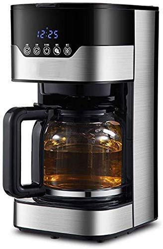Coffee machine Máquina de café de la máquina de café, máquinas de café de 1,5L 24h, 24 horas, programas programables, cervecería de café inteligente con pantalla LCD, vidrio, vidrio, con, térmica, fil