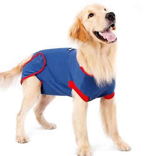 VICTORIE Haustiere Schutz Kleidung Wiederherstellung Anzug Weste Chirurgie zur Verwendung nach der Sterilisation Tierhautkrankheiten für Hunde Katzen Welpe Blau XL