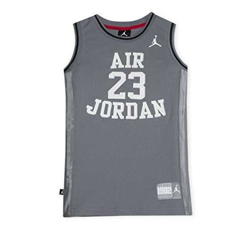 Nike Jordan Boys Youth Classic Mesh Jersey Shirt (Grey, S(8-10YRS))