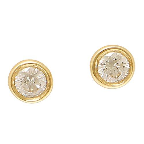 [ティファニー] ピアス アクセサリー TIFFANY&Co. 12818653 18K ダイヤモンド バイザヤード 0.10ct 18YG イエローゴールド [並行輸入品]