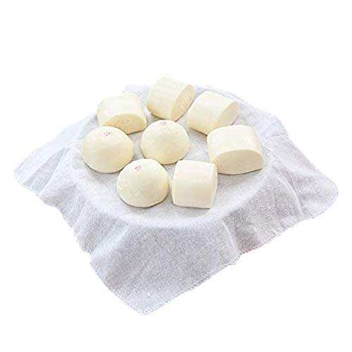 Lautechco 4Pcs Reusable Natural Pure Cotton Bamboo Steamer Baking Cloth Steamers Gauze Pad Steamer Mat Liners for Rice Dim Sum 32cm32cm/12.5 inch12.5 inch(White)