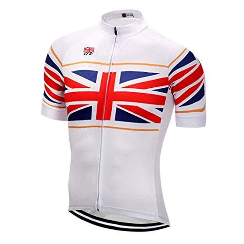 PIWMKV Camisa de Ciclismo de Manga Corta para Hombre, Camisa de Bicicleta de montaña de Secado rápido Transpirable de Verano