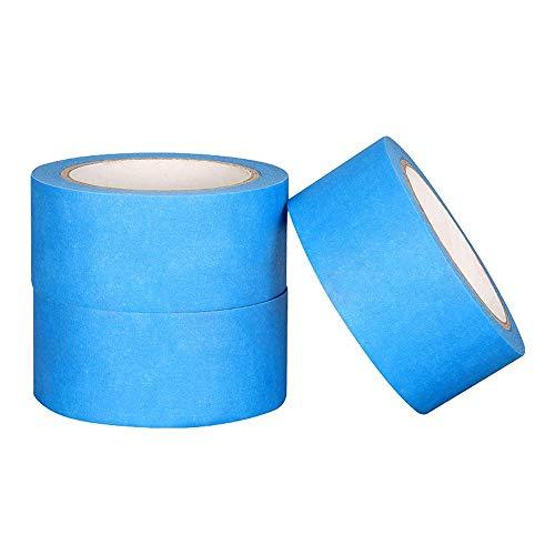 YHtech Cinta Adhesiva Resistente al Calor Azul enmascaramiento de Papel crepé for Impresora 3D rastreable grabable Marcas de la Ropa 48mm * 30M Accesorios de Impresora