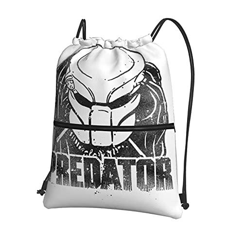 Alien Predator - Bolsa de gimnasio con cordón, mochila deportiva grande, con cordón de natación, bolsas de polietileno para mujeres, hombres