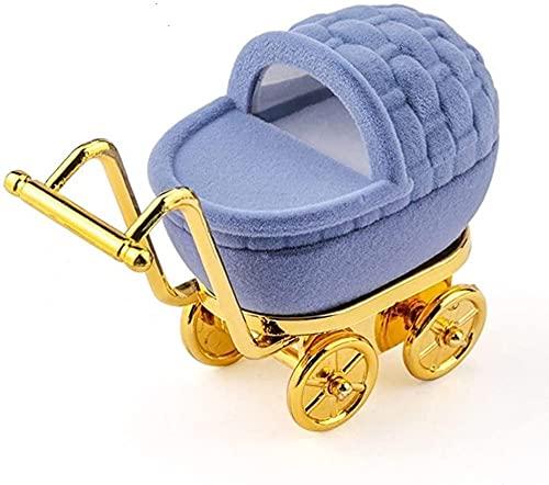 X&J 1 caja de terciopelo preciosa caja de anillo de boda, caja de regalo para pendientes, collares, pulseras y exhibición