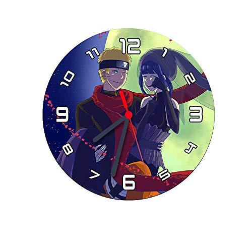 Relógio de Parede Redondo 20cm Naruto e Hinata The Last