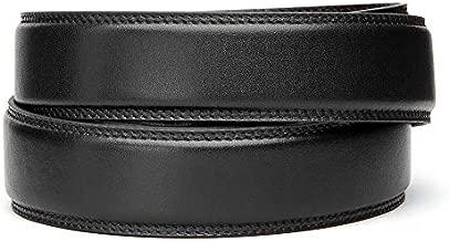 KORE Men's Full-Grain Leather Track Belt | Black Fits 24