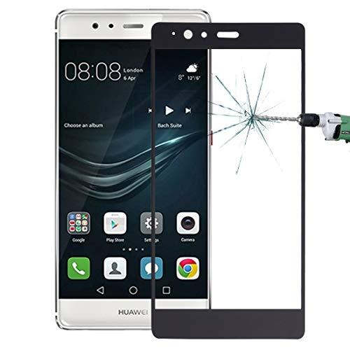 Película de vidrio templado Huawei P9 Plus 0.26mm 9H Superficie dureza a prueba de explosiones pantalla de seda de vidrio templado película de pantalla completa proteger por teléfono ( Color : Black )