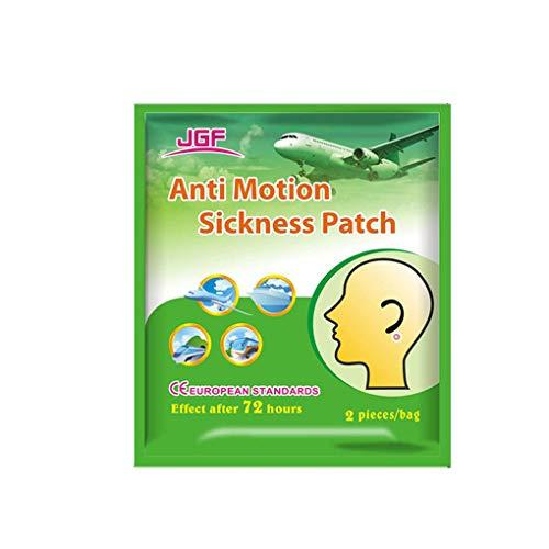 Kongnijiwa 2pcs / Bag Anti Reisekrankheit Patch Prevent Vomitng Kopfschmerzen Flink Hinter Ohr Schwindel Patch