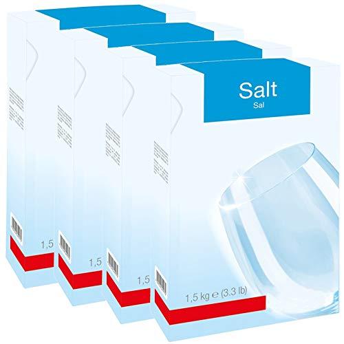 SPARES2GO Vaatwasser Zout (4 x 1,5 kg Box)