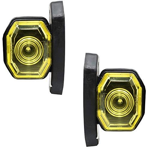 Satz LED 12V 24V Positionsleuchte Umrißleuchte Begrenzungsleuchten LKW PKW Gelb E-prüf