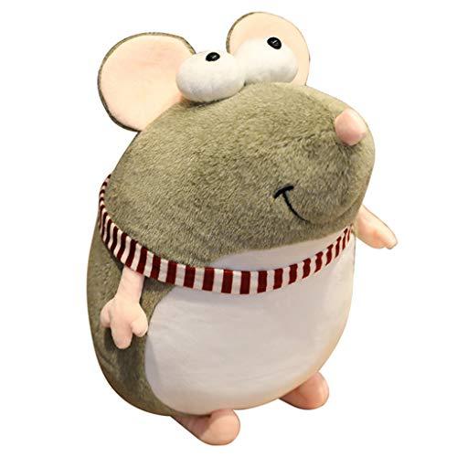 Lowral 20–45 cm niedliche Ratten-Plüschpuppe, gefülltes flauschiges dickes Maus-Kissen, Kuschelkissen für Kinder