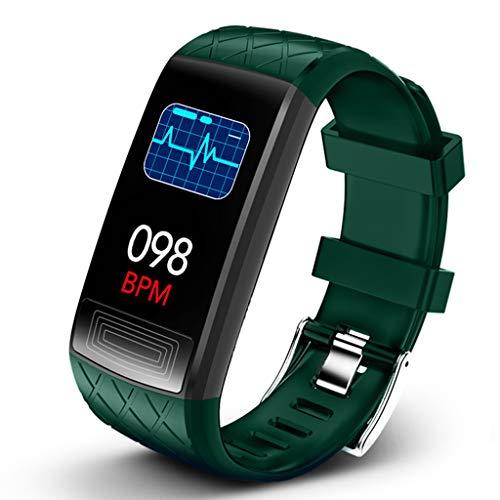LTLJX Fitness Armband, Wasserdichtes Sportuhr Sportuhr Pulsmesser Schlafüberwachung Schrittzähler Smartwatch Armbanduhr für Kinder Damen Herren,Grün
