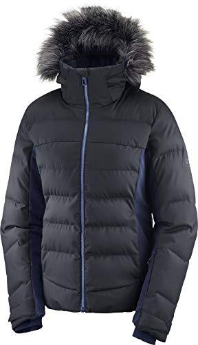 Salomon, Veste de Ski pour Femme avec Capuche, STORMCOZY JKT W, Jersey, bleu (Night Sky), Taille S, LC1235900