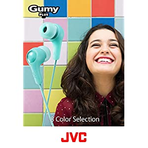 JVC Gumy in Ear Earbud Headphones, Powerful Sound, Comfortable and Secure Fit, Silicone Ear Pieces S/M/L - HAFX7W (White)
