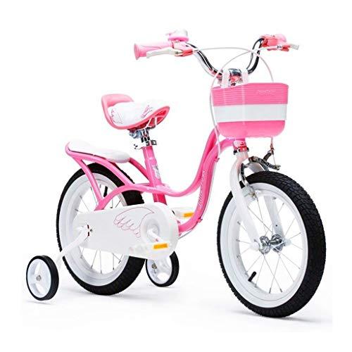 Biciclette Bici per Bambini Triciclo per Bambini Triciclo Equilibrato Motorino per Bimbo Pedale Puzzle Walker Regalo per Bambini (Color : Pink, Size : 16 Inches)