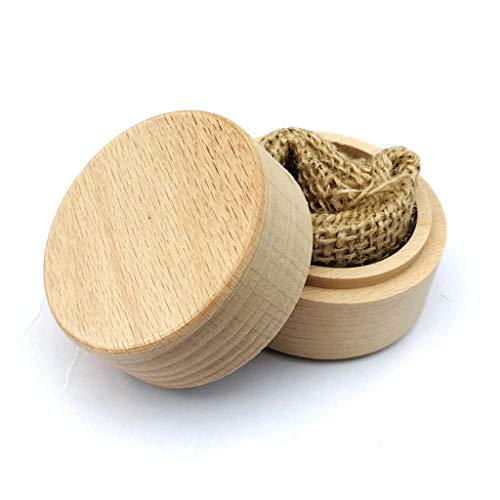 R-WEICHONG - Caja de madera para alianzas, redonda, personalizada, pequeña, vacía, para manualidades, anillos personalizados