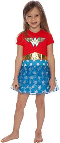 DC Comics Girls Big Wonder Woman Costume Logo Pajama Nightgown Multi 10 12 product image