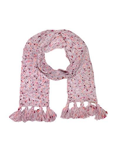 maximo Mädchen mit Fransen Schal, Rosa (Pinkmeliert 85), (Herstellergröße: One Size)