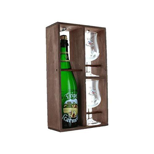Tripel Karmeliet - Estuche de cerveza rubia Triple Karmeliet + 2 vasos