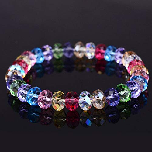 DASHUAIGE Pulsera Pulsera De Tenis para Mujer Exquisita Aurora Square Geometric Polygon Beads Pulsera De Cristal Encanto Femenino Accesorios Regalo