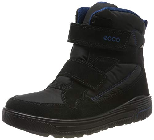 ECCO Unisex-Kinder URBAN Snowboarder Hohe Sneaker, Schwarz (Black/Poseidon 59626), 30 EU