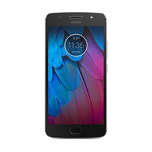 Motorola Moto G5S Smartphone Débloqué 4G (Ecran: 5.2 pouces - 32 Go ROM - 3 Go RAM - Double Nano-SIM - Android 7.1) Gris