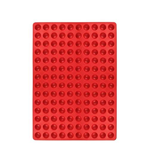iBaste Stampo in silicone per biscotti a forma di cuore con mini cuoricini, tagliapasta in silicone semi-circolare
