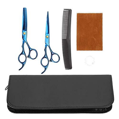 6,5 pouces de coupe de cheveux en acier inoxydable avec des ciseaux à dents plates Salon de coiffure Ensemble de cisaillement de coiffure pour salon de coiffure à domicile