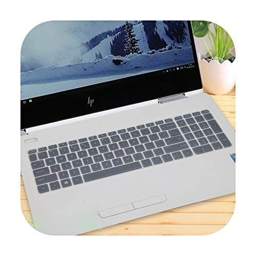 Keyboard Cover Protector 15.6 Inch for Hp Pavilion 15 15-cx0001la 15-cx0058wm 15-cx0073nw 15-cx0046nf 15-cx0027ur 15-Cx Series-Clear-