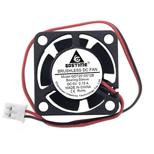 GDSTIME 25mm x 25mm x 10mm 5v Small DC Brushless Cooling Fan