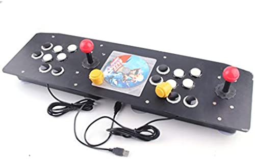 Ergonomique Design Double Arcade Sticker Manette De Jeu Joystick Gamepad Pour Windows PC Enjoy Fun Game - Noir & Blanc