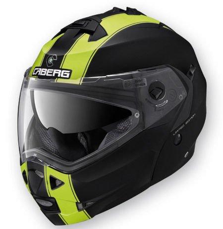 CABERG DUKE Helm, doppelt zugelassen, klappbar, Legend (L, Matt Schwarz/Neongelb)