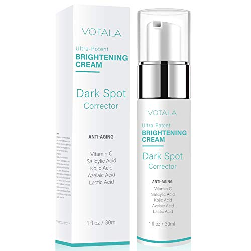 Votala Dark Spot Corrector and Anti-aging Skin Lightening Cream, Face & Eyes for Wrinkle, Fine Lines & Dark Spots, Vitamin A. Best Night & Day Anti-Aging Treatment for Women & Men