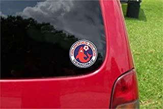 Set (2 PCS) Veracruz Tiburones Rojos Monarcas Futbol Mexico Decals Stickers Full Color/Weather Proof (4