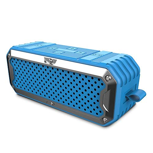 Bluetooth-Lautsprecher Wasserdichte Lautsprecher tragbare drahtlose Bluetooth-Lautsprecher Dual-Treiber Super Bass HiFi Subwoofer Power Bank, blau