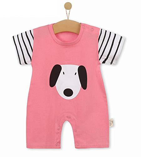 Unisex-Baby Infant Wide Short Sleeve Animal Cartoon Bodysuit Bodys BB@TZZ08PW-0712
