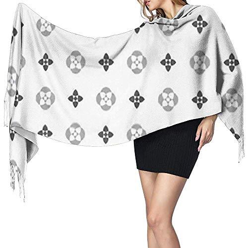 Regan Nehemiah bladeren Louis eenvoudige geometrische bruine vuitton patroon botaniek coating kleur prachtige deken sjaal winter dikke reizen warm wrap sjaal sjaals