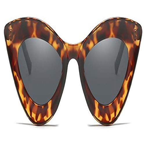 Gafas De Sol Polarizadas New Women Brand Woman Vintage Retro Triangular Cateye Glasses Oculos Feminino Sun Glasses Sexy Leopardgray