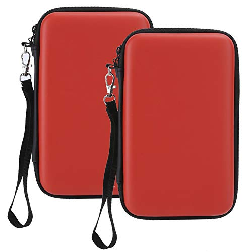 Surebuy Spielkonsolentasche Spielkonsolen-Schutztasche Eva, für 3Ds Ll/3Ds Spielmaschine, für 3ds XL Spielkonsole(red)