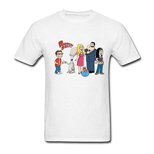 American Dad de Dibujos de Centro de tee T Camiseta para Hombre algodón