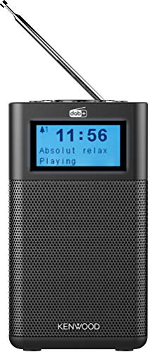 Kenwood CR-M10DAB-B Kompaktradio (DAB+, UKW, Bluetooth, Line-In, Kopfhöreranschluss, Weckfunktion, Farbe Schwarz