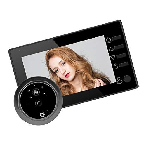 4,3 Zoll Digital Türspion Kamera mit PIR Bewegungsmelder, IR-Nachtsicht, 145 Grad Weitwinkel - Schwarz