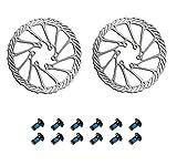 Ncheli 2 pcs Rotor de freno de disco,160mm paquete Rotor de freno de disco Rotor de Bicicleta Rotores de Freno de Bicicleta con 12 Pernos para la mayoría de las bicicletas