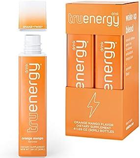 Tru Energy | All Natural Caffeine Energy Shots | Antioxidants Plus Vitamin B | Wake Up Blend (Tropical Oran...