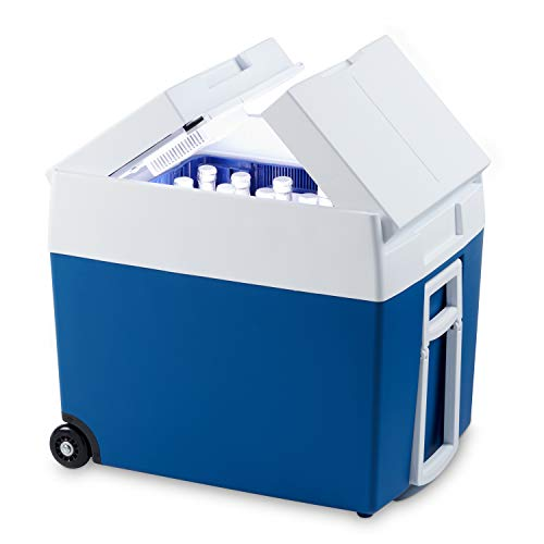 MOBICOOL MT48W AC/DC Thermoelectric Coolbox, Mini Fridge 48 Litre Metallic-Blue, 12 / 230 V