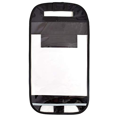 ランドセルカバー 反射材付き透明・クリアブラック(透明ビニール×黒) N4150200