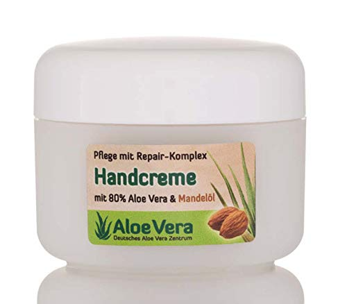Aloë vera handcrème met amandel- en avocado-olie, sheaboter en 80% aloë vera (1 potje à 100 ml)